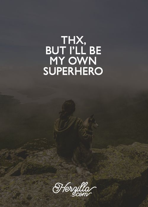 Thx, but I'll be my own superhero - Here is one independent lady! Power women quote - strong women quote / meme. Certainly not a princess that needs saving :) Share if you agree with this girl power quote - https://www.etsy.com/shop/Herzilla
