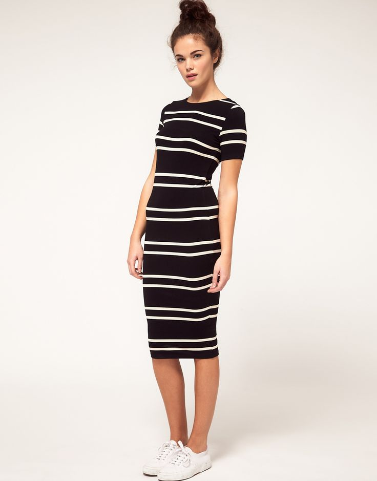 River Island | River Island Stripe Midi Dress at ASOS