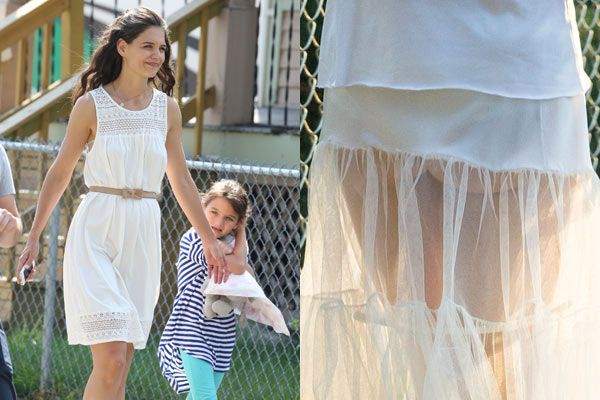 Katie Holmes showed her cheeky side on the set of her new ...