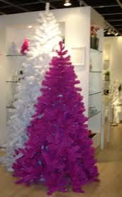 torre & tagus - holiday pink and white trees
