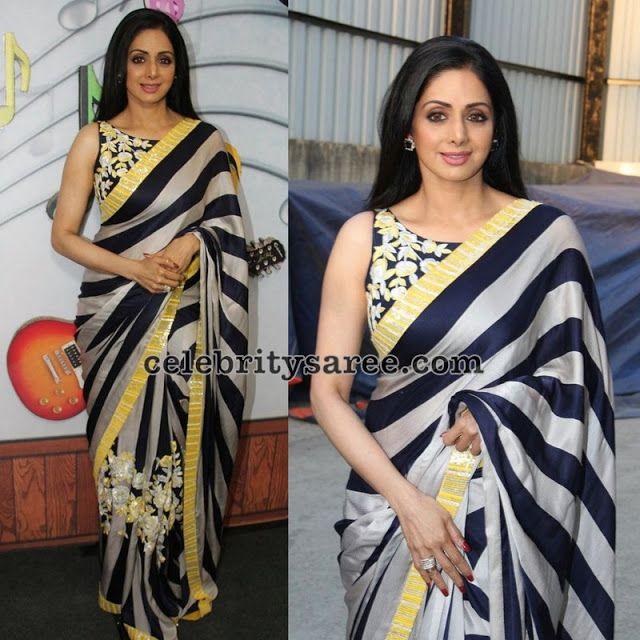 Sridevi Bonikapoor Stripes Saree
