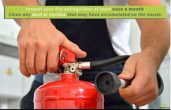 An inspection of your fire extinguisher can potentially save your life.   #homesafety #hometip #homemaintenance #firesafety #fireextinguisher