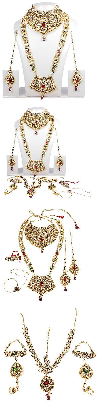 Sets 98513: Indian Bridal Jewelry Set Bollywood Necklace Fashion Jewelry Kundan Jewelry 376 BUY IT NOW ONLY: $78.0