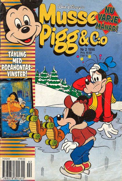 Cover for Musse Pigg & C:o (Serieförlaget [1980-talet], 1993 series) #2/1996