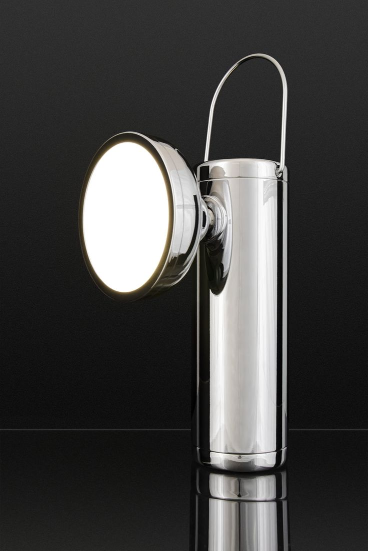 Special edition M Lamp, polished chrome. David Irwin for Juniper