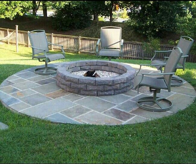 Backyard Fire Pit Landscaping Ideas: 17 Best Images About Fire Pit Ring Insert On Pinterest