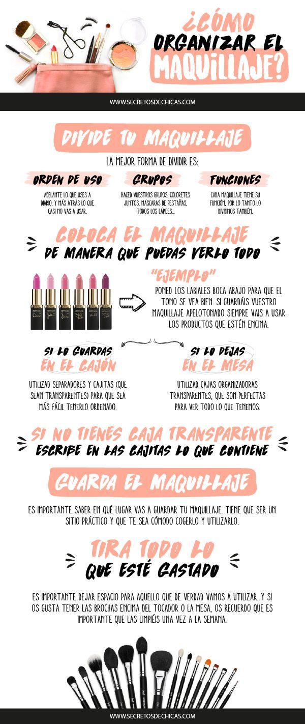 Hoy os traigo un post sobre cómo organizar el maquillaje para que lo tengamos bien puesto y todo visible para que nos sea más cómodo
