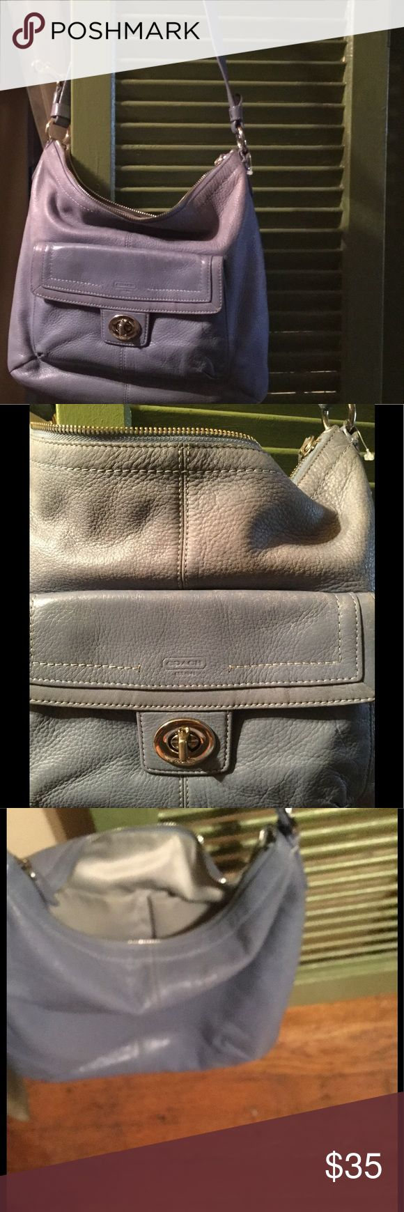 Coach leather bag Coach leather bag shoulder strap ,bag has little discoloration on it ,bag still has  life left to be loved... Coach Bags Shoulder Bags