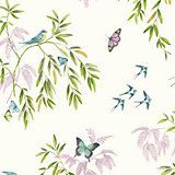 Halcyon Days Natural Birds & Trees Glitter Wallpaper | Departments | DIY at B&Q