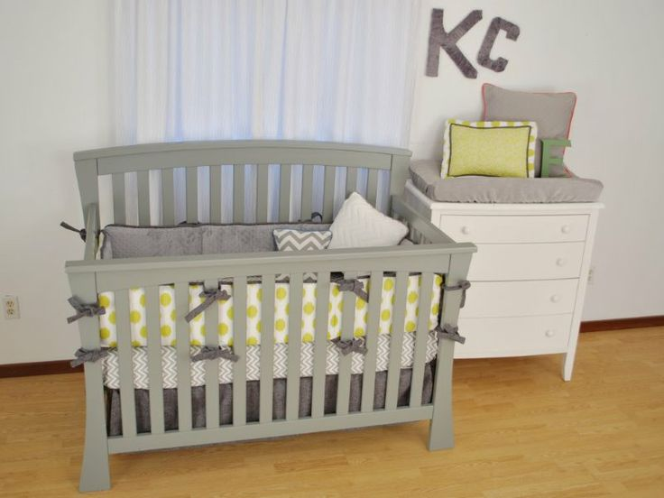 lime green crib bedding 2