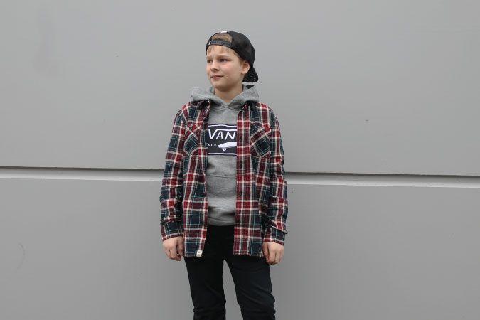 Boy's @vans Birch Buttondown Shirt & Full Patch Pullover Hoody