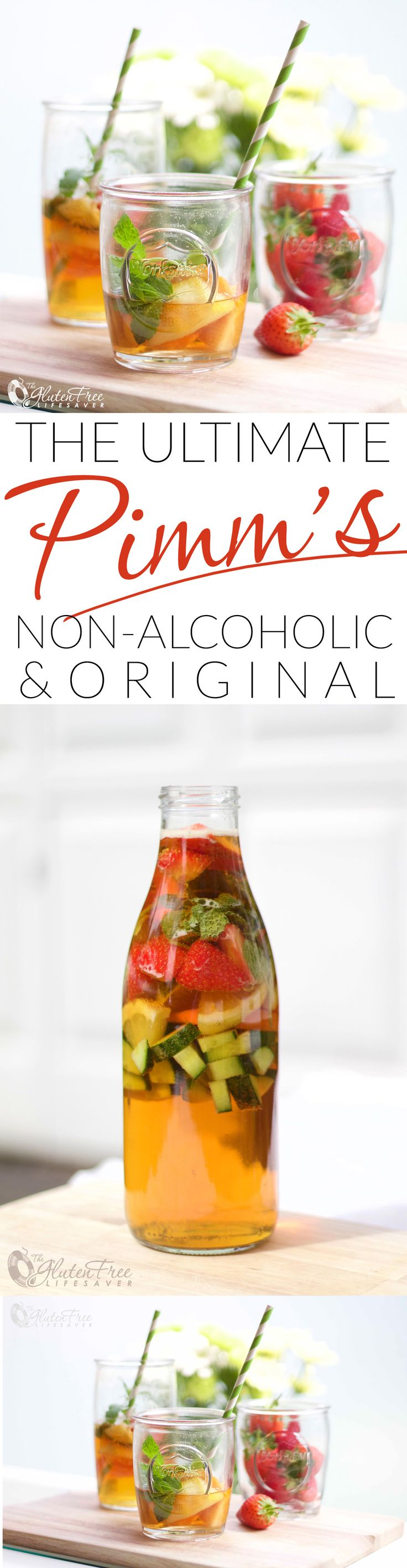 The Brit's Favourite Summer Drink: Fresh, fizzy and fruity! Get the very best recipes for the original Pimm's Cup as well as the Virgin Pimm's Cup! Perfect for lazy summer days and bbq's with friends :) #aromabotanical