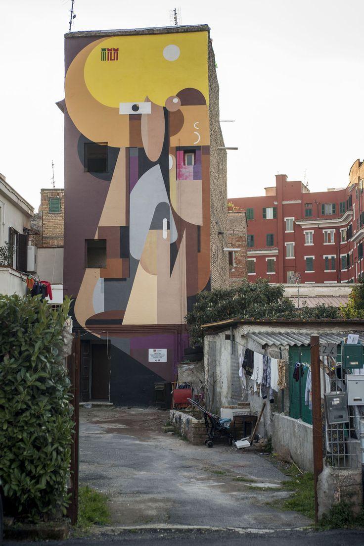 StreetArt Roma: Straniera   Alexey Luka   2014   Zona: Torpignattara   #art #streetart #roma