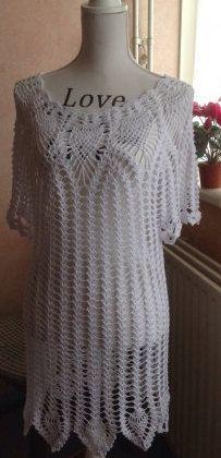 Gehaakte tuniek/jurk van DutchCrochetShop op Etsy