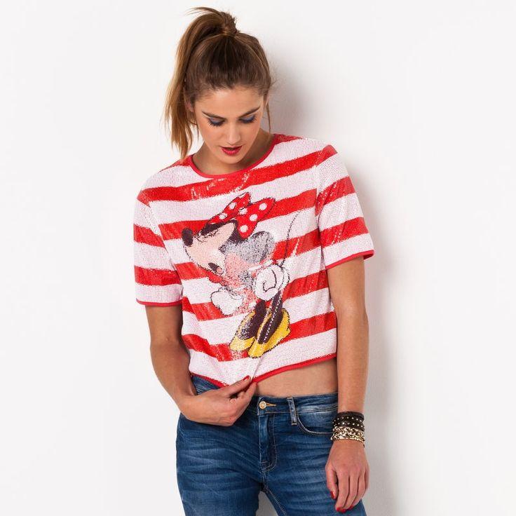 T-shirt manches courtes rayé à sequins femme Nedaisy ELEVEN PARIS