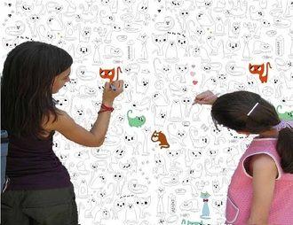 "Обои - раскраски с кошками и котами ""Котомания"" #coloring #colouring #раскраски #для_детей #рисунок"