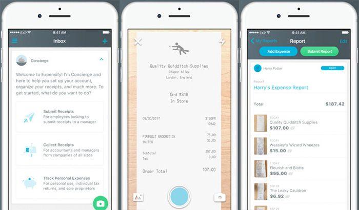 أفضل تطبيقات إدارة الشؤون المالية لعملك بفاعلية للأندرويد والأيفون نيوتك New Tech Graphing Calculator Expensify Graphing