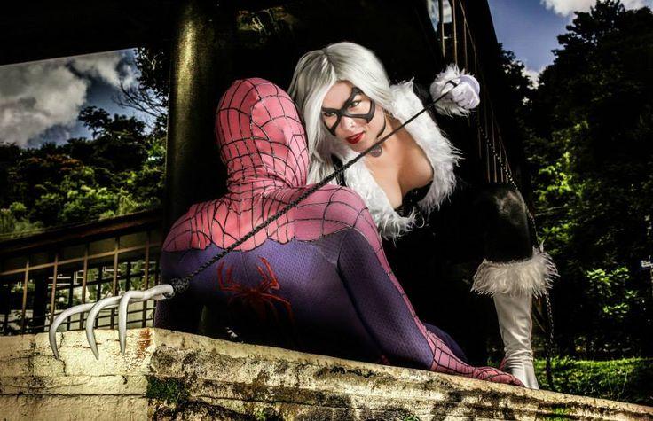 Black Cat and Spiderman Cosplay in the diamond The by karollhell  Black Cat https://www.facebook.com/karollvianacosplay Spiderman https://www.facebook.com/andreluiz.andrezao.1  photographer https://www.facebook.com/danieladamr #balckcat #cosplay #spiderman #marvel