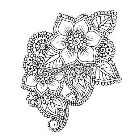Doodle Vector Illustration Design-Element. Blumen-Verzierung. photo
