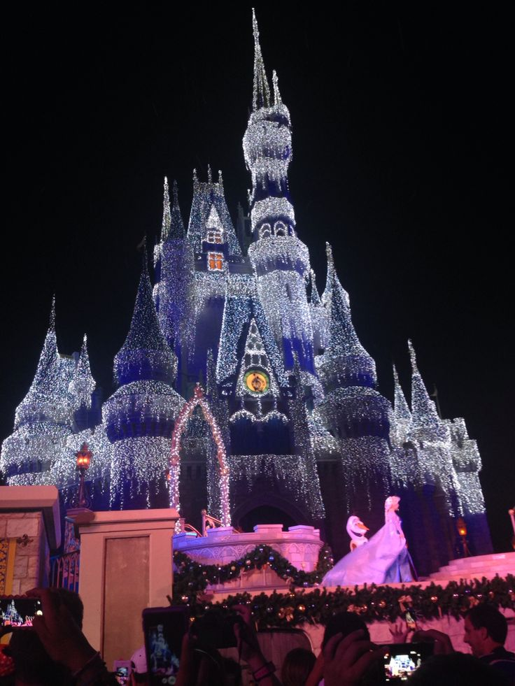 Elsa's Magic ❄️ #waltdisneyworld #castle