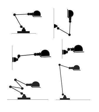 Jielde, Jean Louis Domecq, lampe industrielle - 1950 - France ~ industrial lamp