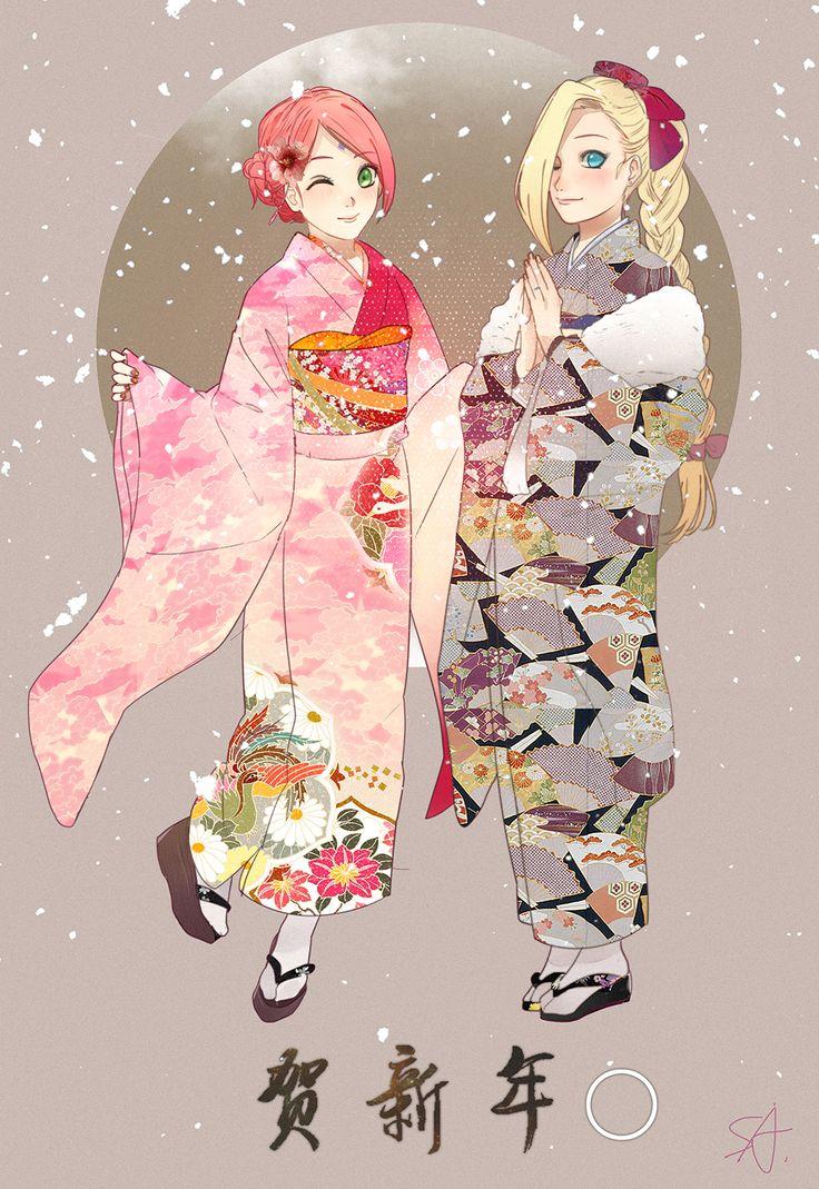 Tags: Fanart, NARUTO, Haruno Sakura, Pixiv, Yamanaka Ino, Fanart From Pixiv, Pixiv Id 12084268