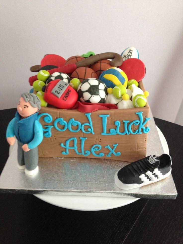 Teacher Retirement Cake Images : PE teacher retirement cake Fondant figures Pinterest ...