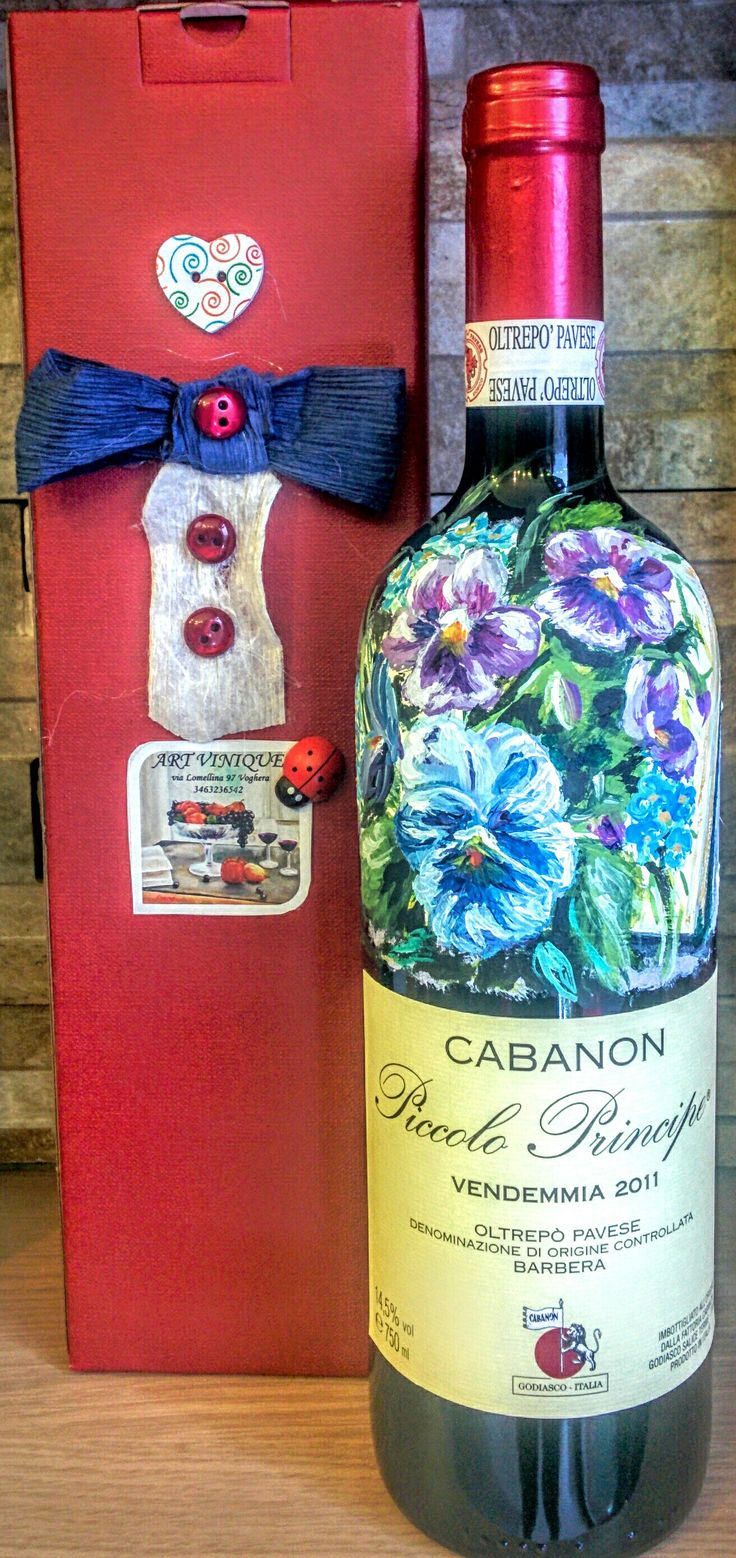 Painted for Art Vinique by Agnese Canopi. Wine: Barbera by Fattoria Cabanon