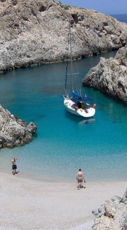there are so many such wonderful spots in GREECE to be explored with a sailing boat....