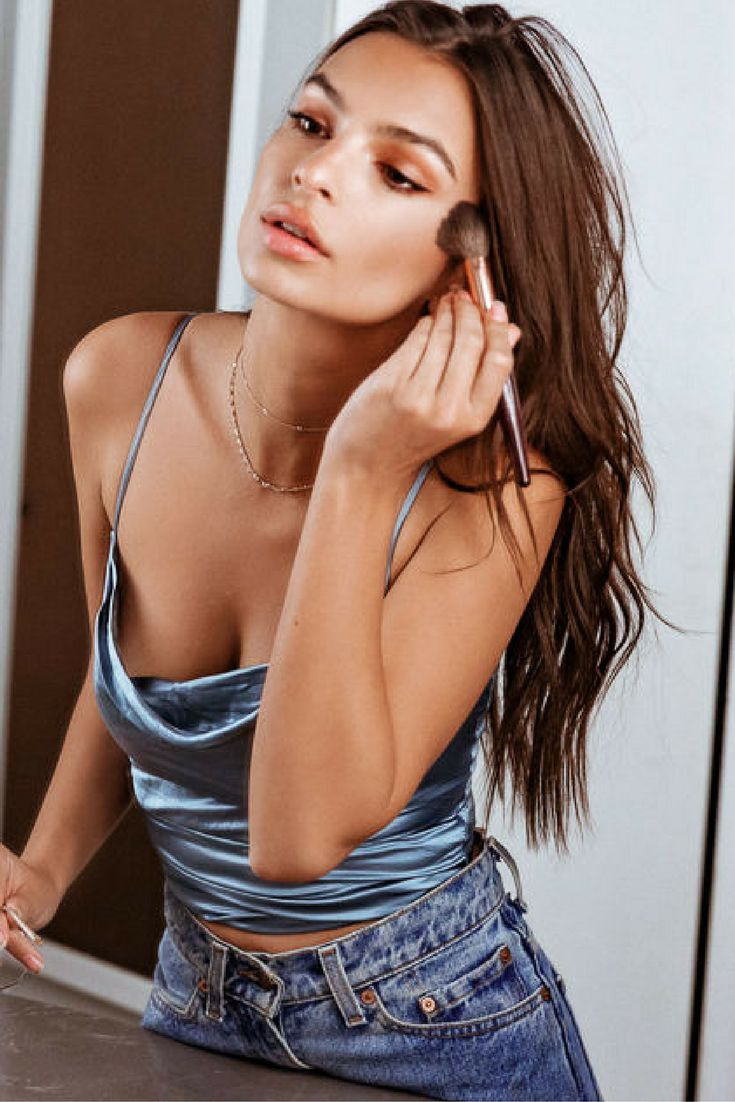 """I'm also very committed to a cat eye. I'm always like, 'I don't need it! I don't need it!' But I've been doing it since I was 15, so I always end up throwing it on.""—Emily Ratajkowski, model and activist, on her beauty go-to"