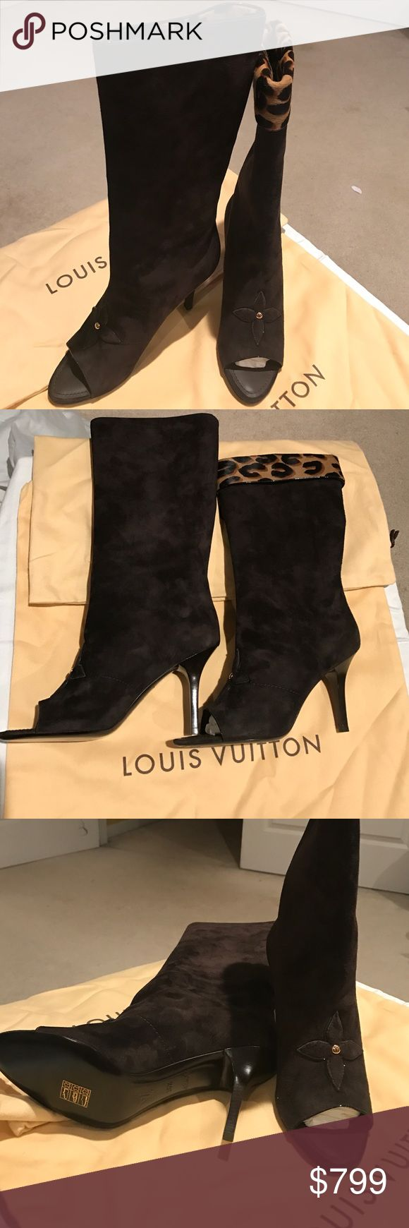Louis Vuitton dressy suede boots All brand-new sexy Louis Vuitton boots with original packaging made in Italy . Size 36 1/2 equivalent to size 6 1/2 US. Perfect condition never worn. Louis Vuitton Shoes Heeled Boots