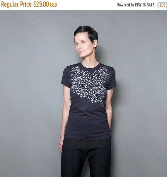 VERKOOP vrouwen T shirt, Womens graphic tee, geometrische scherm afdrukken, Abstract Art Print, Marine t shirt voor vrouwen, graphic tee shirt