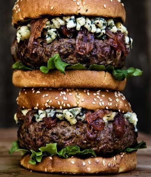 Double stack burgers.