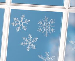 Make your own window clings...based on the reviews it sounds like fabric or tacky glue on ziploc bags works best.  So many possibilities for all the holidays with this one!