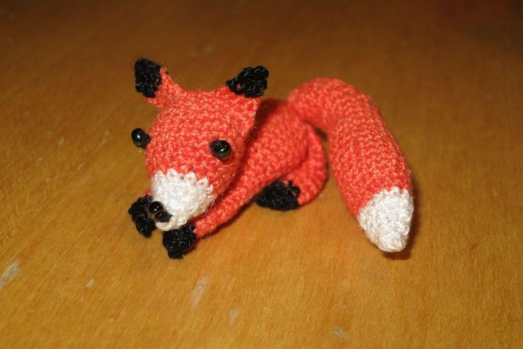 háčkovaná liška/ crocheted fox