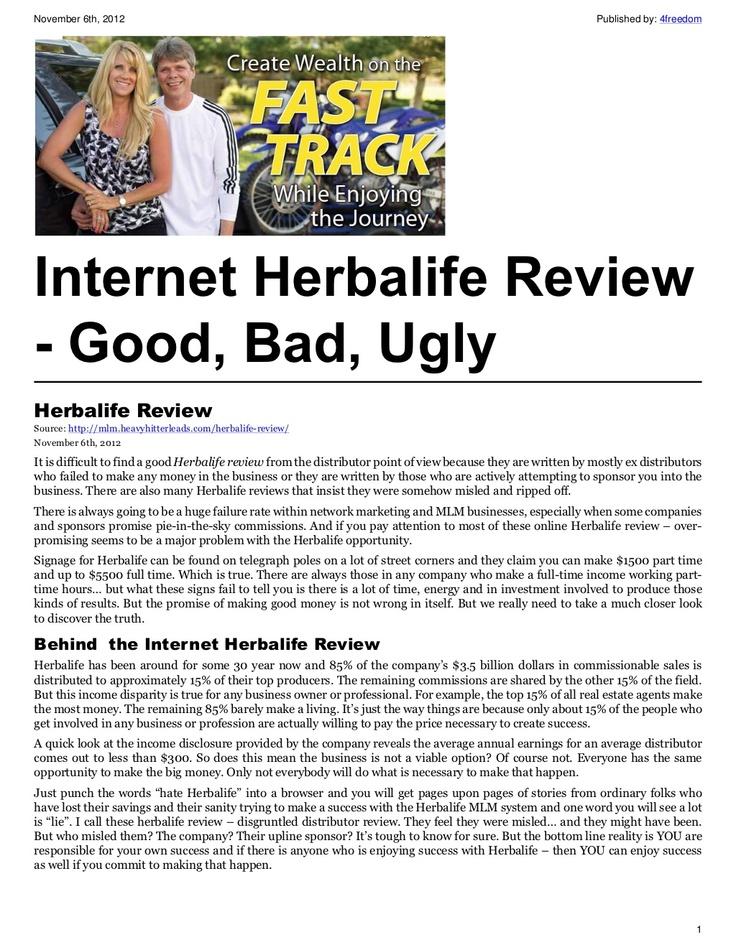Herbalife Review - http://mlm.heavyhitterleads.com/herbalife-review/