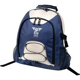 Compression straps, Bungee elastic cord and toggle with reflective tape for safety, Padded back and straps, Large front zippered pocket, 2 side mesh pockets, Hidden porthole for headphones with cord tidy and velcro loop inside, Moulded plastic handle. 600 Denier Nylon http://catalogue.davarni.com.au/Products/Search/Products?startRow=100&maxRows=50
