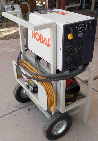 DIY cart for a small MIG welder - power cord solution