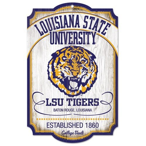 Lsu College Vault Wooden Sign