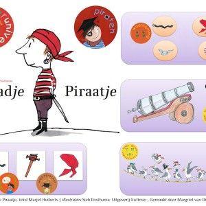 Aadje Piraatje is een lieveling van velen! Dezedigibordles is een fantastischeaanvulling bij het boekvan Marjet Huiberts en SiebPosthuma...