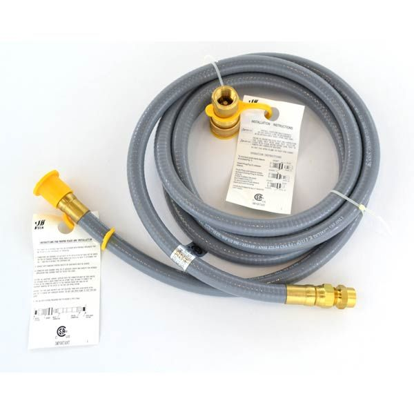 """1/2"""" NATURAL GAS 8 FEET HOSE WITH QUICK DISCONNECT FOR HIGH OUTPUT GRILLS Fits Compatible Centro Models : 4000AS"""