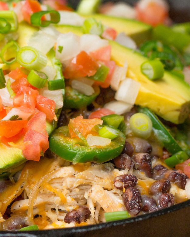 Loaded Sweet Potato Nachos - use this recipe to make chicken breast to add to quinoa bowls.