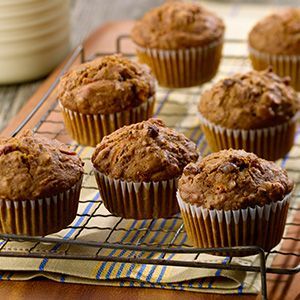 Muffins traditionnels son et carottes