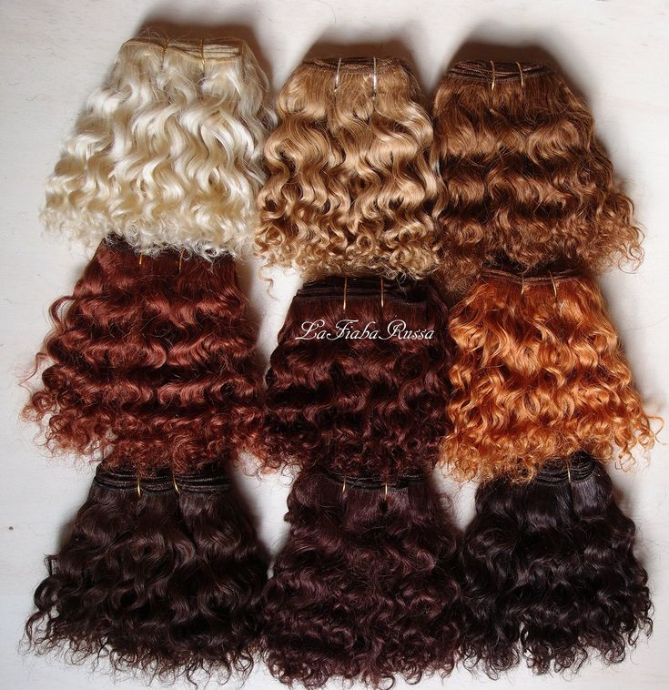 Weft doll hair mohair goat hair 1 m natural human shades colors for waldorf doll wig custom Blythe wig natural Wool Doll Hair laFiabarussa