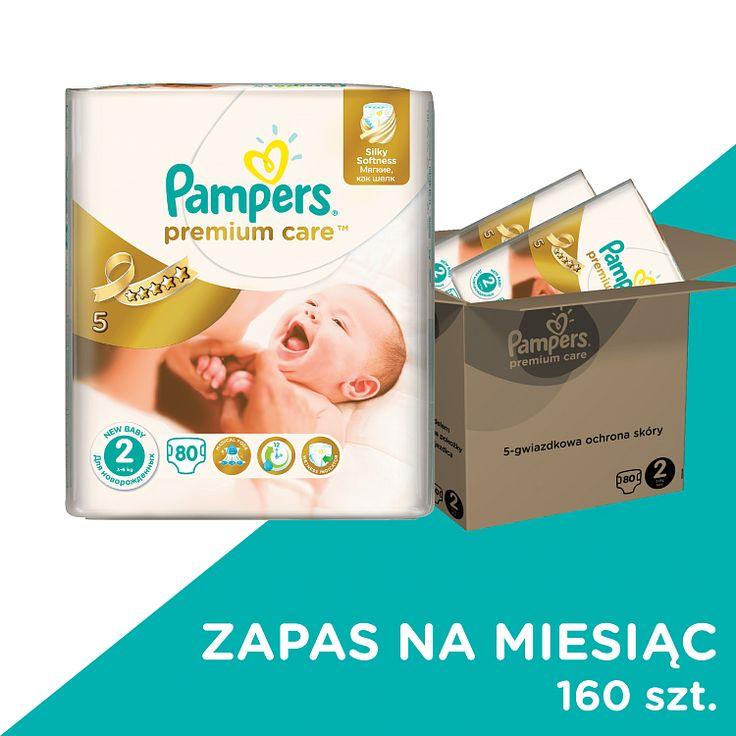 Pampers, Premium Care, pieluchy jednorazowe, rozmiar 2, mini, 160 szt., zapas na miesiąc