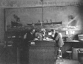 Interior of the Cunard Line office
