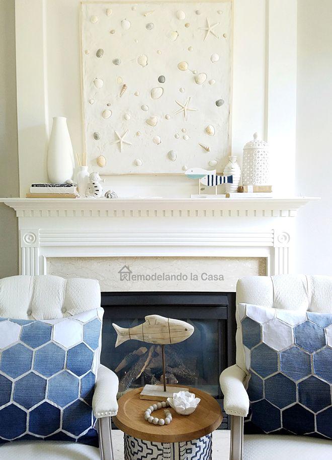 Remodelando La Casa Summer Mantel With Seashells On The Beach Artwork