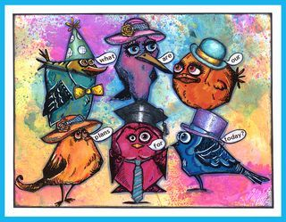 Adventurous Crazy Birds with new Crazy Things Stamps