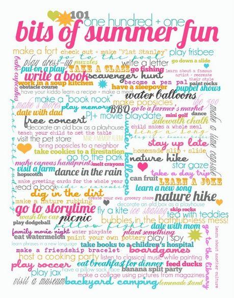 101 fun summer ideas for kids