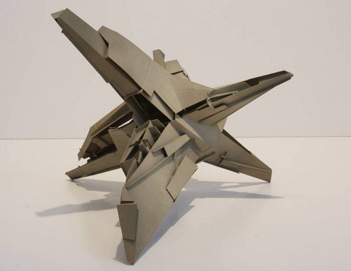 Lebbeus Woods, Star House 1997, Styrene plastic welded with resin and pigment